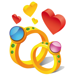 Ring Hearts Sticker