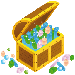 Treasure Chest Open Sticker