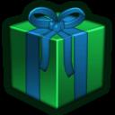 Present Green Sticker