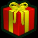 Present Red Sticker