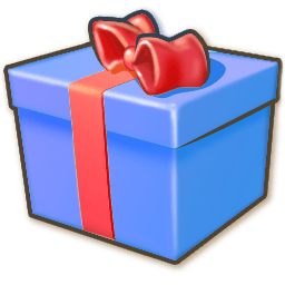 Giftbox Blue Sticker