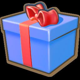 Giftbox Blue Sticker
