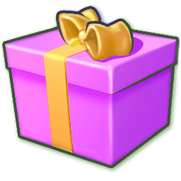 Giftbox Purple Sticker