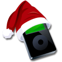 Ipod Black Santaclaus Sticker