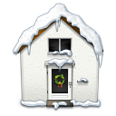 Snowy House Sticker