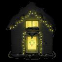 Snowy House Dark Sticker