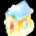 Xmas House Sticker