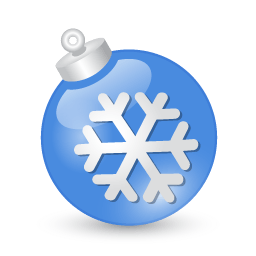 Xmas Ball Blue Sticker