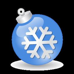 Xmas Ball Blue Sticker