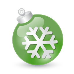 Xmas Ball Green Sticker