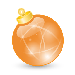 Xmas Ball Orange Sticker