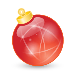 Xmas Ball Red Sticker