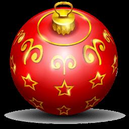 Christmas Tree Ball Sticker
