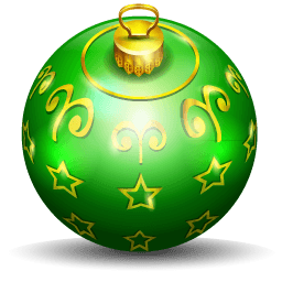 Christmas Tree Ball 2 Sticker
