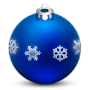 Ornament With Snow Flakes Sticker