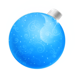 Christmas Ball Blue Sticker
