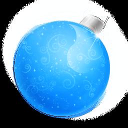 Christmas Ball Blue Sticker
