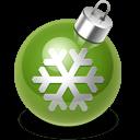 Xmas Decoration Green Sticker