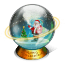 Christmas Snow Globe Stickers