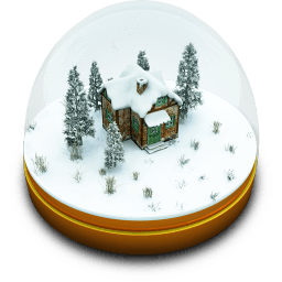 Xmas Snow Globe Sticker