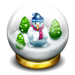 Glass Snow Ball Sticker