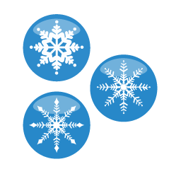 Christmas Snow Flakes Sticker