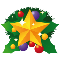 Christmas Star Sticker