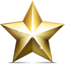 Golden Star Sticker