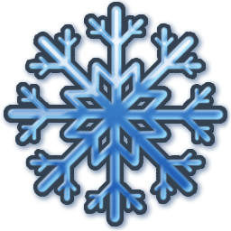 Blue Snow Sticker