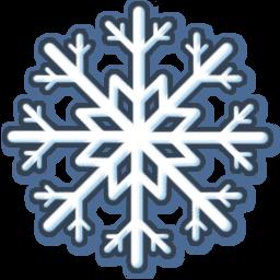White Snow Sticker