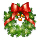 Christmas Wreaths & Mistletoe Stickers