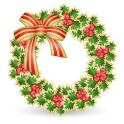 Xmas Wreath Sticker