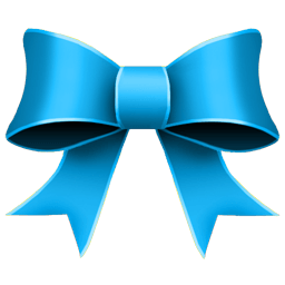 Ribbon Blue Sticker