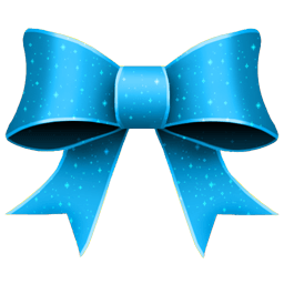 Ribbon Blue Pattern Sticker