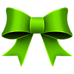 Ribbon Green Sticker