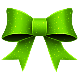 Ribbon Green Pattern Sticker
