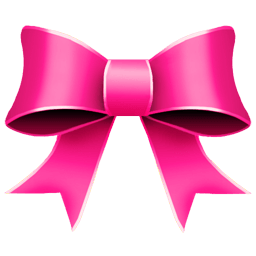 Ribbon Pink Sticker