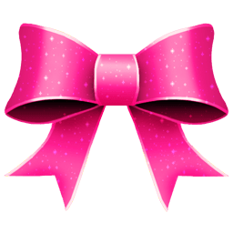 Ribbon Pink Pattern Sticker