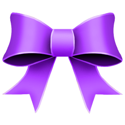 Ribbon Purple Sticker