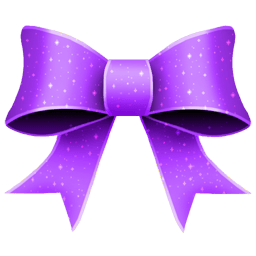 Ribbon Purple Pattern Sticker