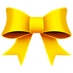 Ribbon Yellow Sticker
