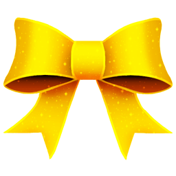 Ribbon Yellow Pattern Sticker