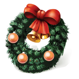 Christmas Wreath Sticker