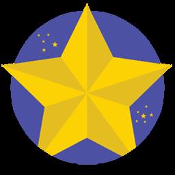 Christmas Star Sticker