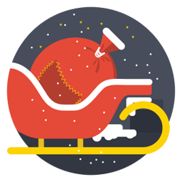 Santa Cart Sticker