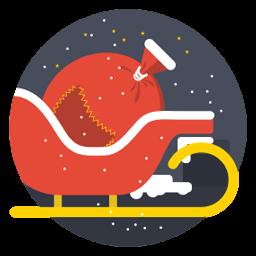 Santa Cart Sticker