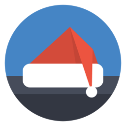 Santa Hat Sticker