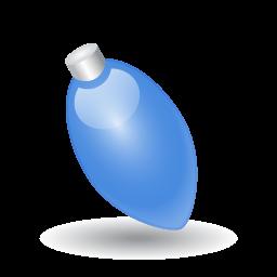 Xmas Light Blue Sticker
