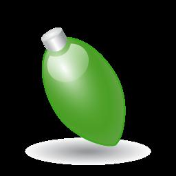 Xmas Light Green Sticker
