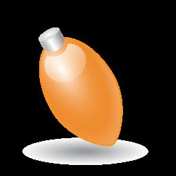 Xmas Light Orange Sticker